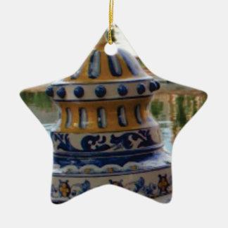 dome of fancy blues ceramic ornament