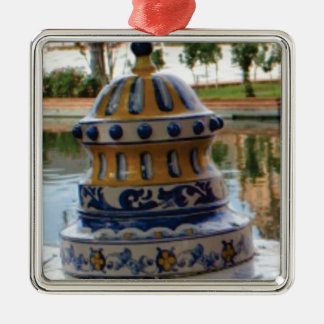dome of fancy blues metal ornament