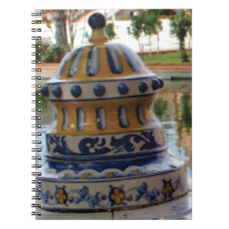 dome of fancy blues notebook