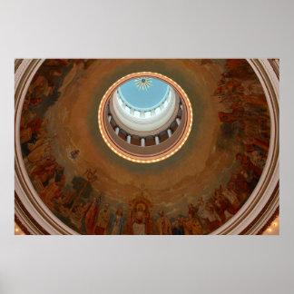 Dome of Notre Dame De Chicago Catholic Church Print