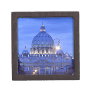 Dome of Saint Peter s Basilica at dusk Premium Gift Box