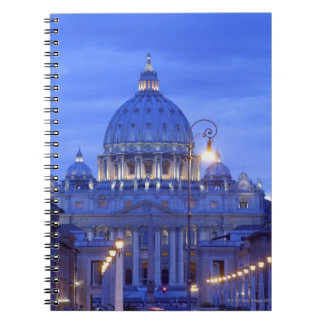 Dome of Saint Peter's Basilica at dusk Notebook