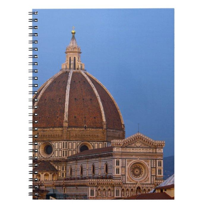 Dome of Santa Maria del Fiore Cathedral in warm Notebook