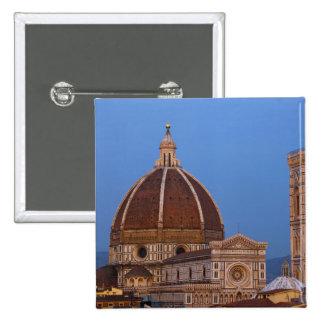 Dome of Santa Maria del Fiore Cathedral in warm Pinback Button