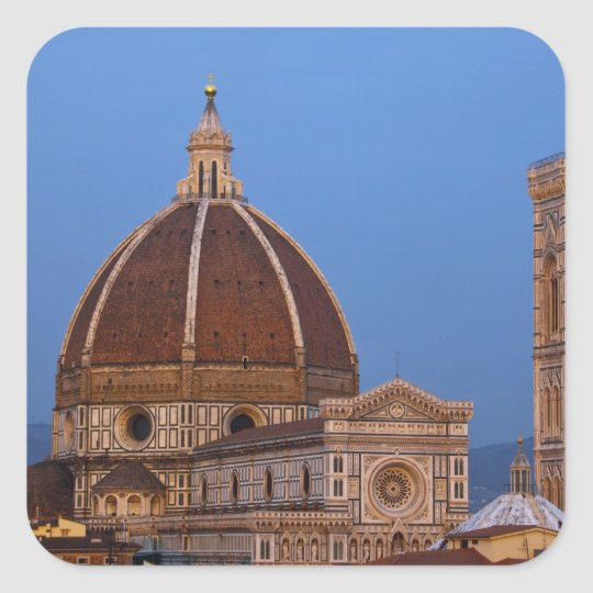 Dome of Santa Maria del Fiore Cathedral in warm Square Sticker