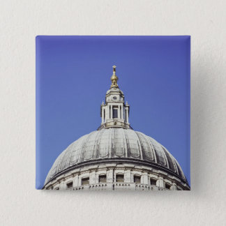 Dome of St Paul's Cathedral in London, England Button