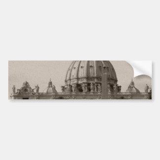 Dome of St Peters Basilica Rome Bumper Sticker