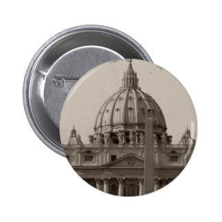 Dome of St Peters Basilica Rome Button