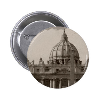 Dome of St Peters Basilica Rome Pinback Button