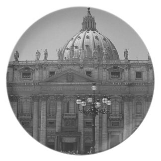 Dome of St Peters Basilica Rome Party Plate