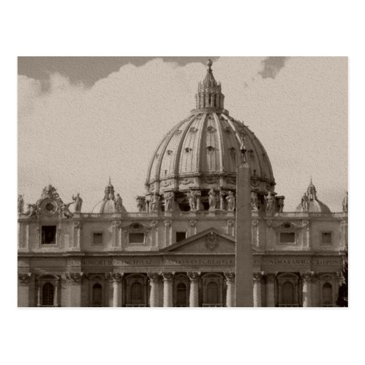 Dome of St Peters Basilica Rome Postcards