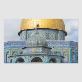Dome of the Chain Temple Old City of Jerusalem Rectangular Sticker