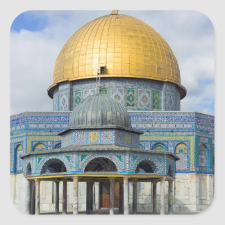 Dome of the Chain Temple Old City of Jerusalem Square Sticker