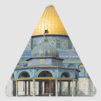 Dome of the Chain Temple Old City of Jerusalem Triangle Sticker