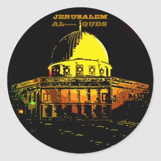 DOME OF THE ROCK, JERUSALEM CLASSIC ROUND STICKER