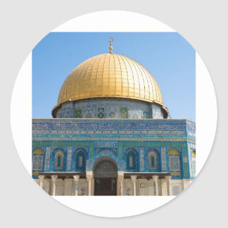 Dome of the Rock Jerusalem Classic Round Sticker
