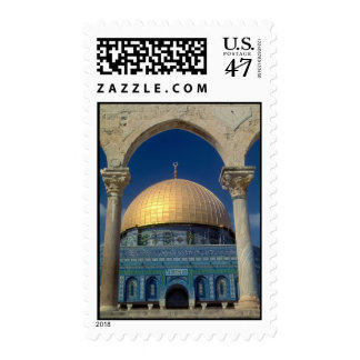 """Dome of the rock, Jerusalem"" postage stamp"