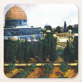Dome of the Rock, Jerusalem Square Paper Coaster