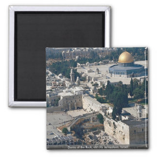 Dome of the Rock, old city Jerusalem, Israel 2 Inch Square Magnet