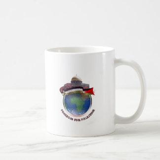 Dome of the rock, the world, Palestine flag Coffee Mug