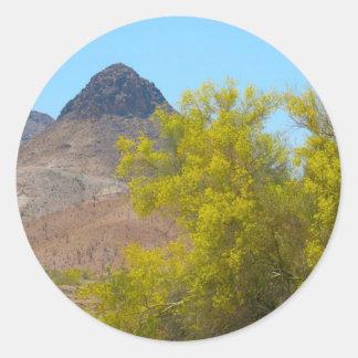 Dome Rock, Quartizsite, AZ Classic Round Sticker