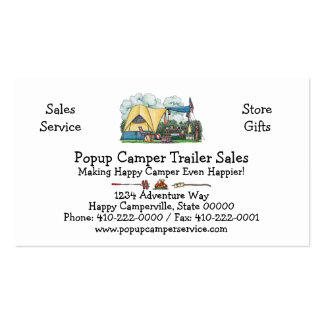 Tents business cards templates zazzle for Tent business cards