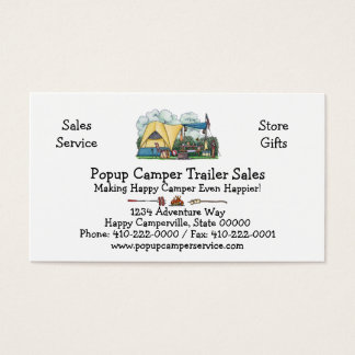 Dome Tent Camper Camping Apparel Business Card