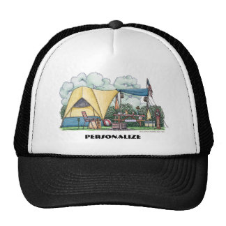 Dome Tent Camper Camping Hats