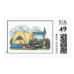 Dome Tent Camper Camping Stamps Postage Stamp