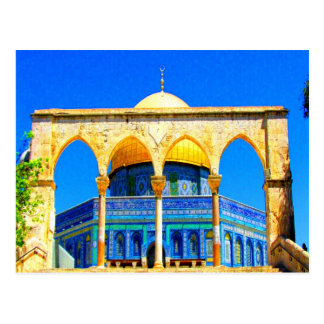 dome the rock 14 god and peace postcard