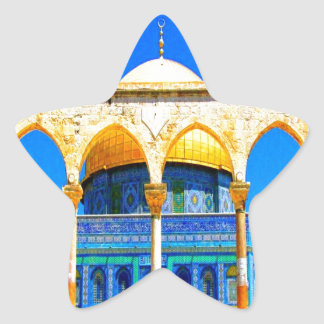 dome the rock 14 god and peace star sticker