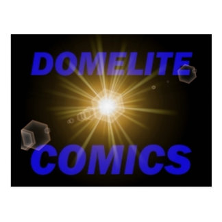 Domelite Comics Button Postcard