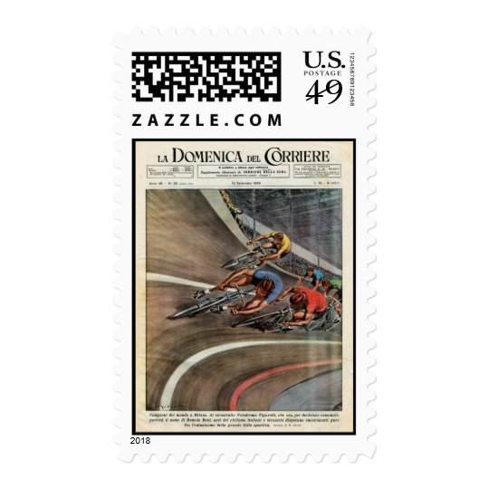 Domenica track cycling postage stamps