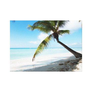 anakondasp Domenicana beach canvas print