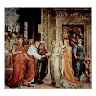 Domenico Beccafumi - Marys marriage to Joseph Poster