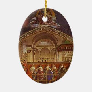 Domenico Ghirlandaio: Confirmación de la regla Adorno Ovalado De Cerámica