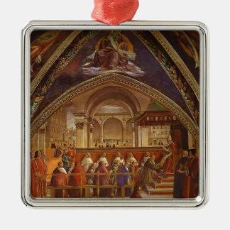 Domenico Ghirlandaio: Confirmación de la regla Adorno Cuadrado Plateado