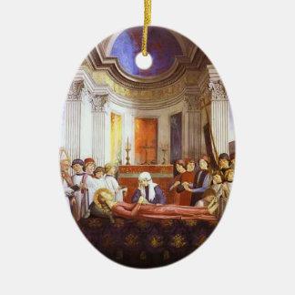 Domenico Ghirlandaio: El entierro de St. Fina Adorno Ovalado De Cerámica