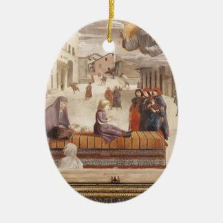 Domenico Ghirlandaio: El milagro de un niño Adorno Ovalado De Cerámica