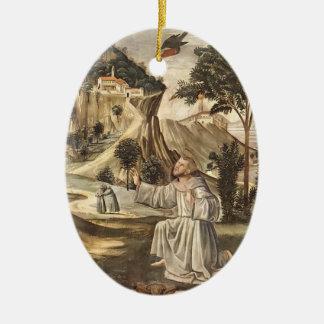 Domenico Ghirlandaio: Estigmas de St Francis Adorno Ovalado De Cerámica