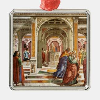 Domenico Ghirlandaio: Expulsión de Joaquín Adorno Cuadrado Plateado