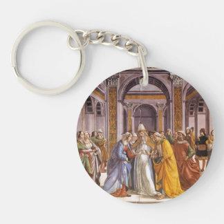 Domenico Ghirlandaio: Marriage of Mary Single-Sided Round Acrylic Keychain