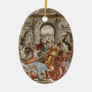 Domenico Ghirlandaio: Matanza de los Innocents Adorno Ovalado De Cerámica