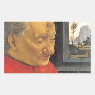 Domenico Ghirlandaio Old Man And Young Boy Rectangular Sticker
