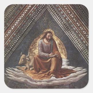 Domenico Ghirlandaio: St Luke Pegatina Cuadrada