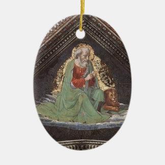 Domenico Ghirlandaio: St Mark el evangelista Adorno Ovalado De Cerámica
