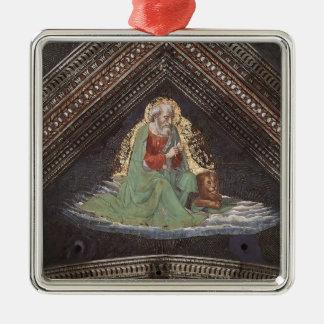 Domenico Ghirlandaio: St Mark el evangelista Adorno Cuadrado Plateado