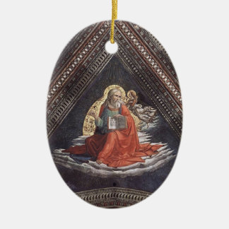 Domenico Ghirlandaio: St Matthew el evangelista Adorno Ovalado De Cerámica