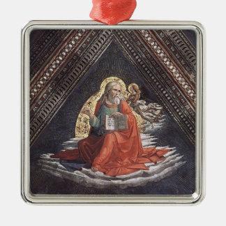 Domenico Ghirlandaio: St Matthew el evangelista Adorno Cuadrado Plateado