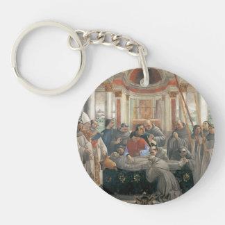 Domenico Ghirlandaio: The Death of St. Francis Single-Sided Round Acrylic Keychain